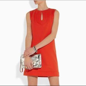 Diane von furstenberg kadijah blood orange dress